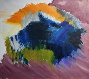 Werk_3_Jaczynska_Ewa_Ohne Titel_Oeltechnik_Oel Pastellkreide auf Leinwand_70 x 80 cm_2018 web