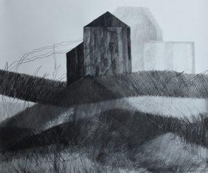 Ohne Titel Bleistift Zeichenkohle Aquarell auf Papier 50x60 cm 2020