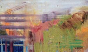 Spaziergang durch den Wald, Öl auf Leinwand, 50x100 cm, 2020