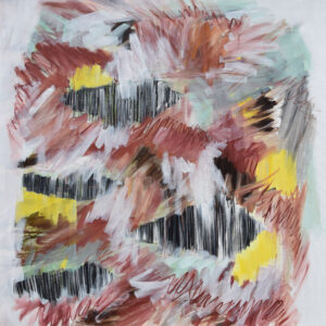 Wildbienen, Öl auf Leinwand, 100x100 cm, 2020